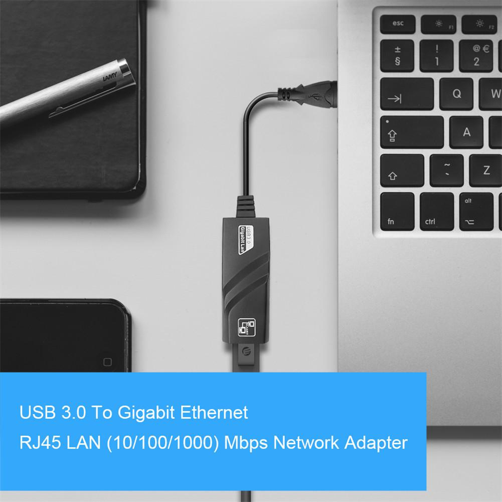 Wired USB 3.0 To Gigabit Ethernet RJ45 LAN (10/100/1000) Mbps Network Adapter Ethernet Network Card For PC Free Driver