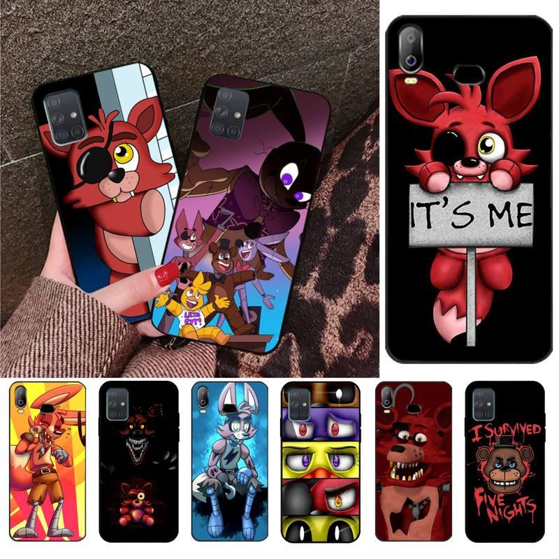Cartoon Fox Fnaf Plush Foxy Phone Case For Samsung Galaxy A21S A01 A11 A31 A81 A10 A20E A30 A40 A50 A70 A80 A71 A51