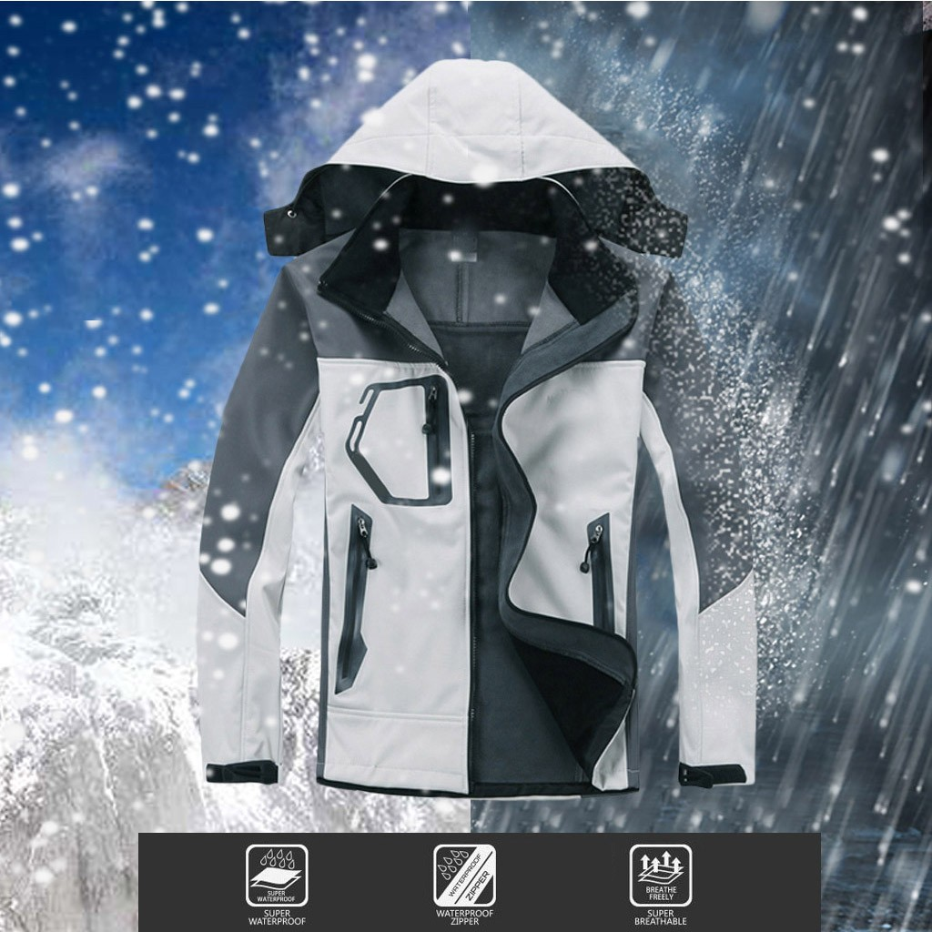Softshell Jacket Clothing Rainproof-Suit Fabric Outdoor Hiking 3-Layer Pu-Coating Light title=