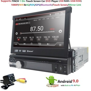 "Image 3 - 7""Universal 1din Android 9.0 QuadCore Car DVD player GPS Navigation 4GWifi BT autoRadio 2GB RAM 32GB ROM SWC RDS OBD2 DAB CD MAP"