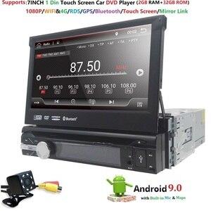 """Image 3 - 7 """"Đa Năng 1din Android 9.0 QuadCore DVD Xe Hơi GPS Dẫn Đường 4GWifi BT AutoRadio 2GB RAM 32GB ROM SWC RDS OBD2 DAB CD Bản Đồ"""