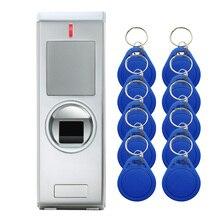 HF1 IP67 2000 пользователей металлическая биометрическая система контроля доступа по отпечаткам пальцев Rfid 125 кГц считыватель контроля доступа к двери
