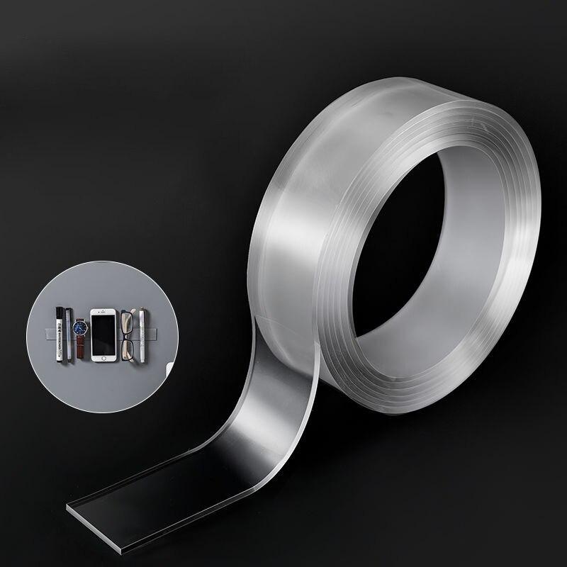 1/3/5m Nano Magic Tape Washable Reusable Transparent Double-Sided Tape No Trace Paste Finedo Magic Tape Adhesive Nano Fixer Tape