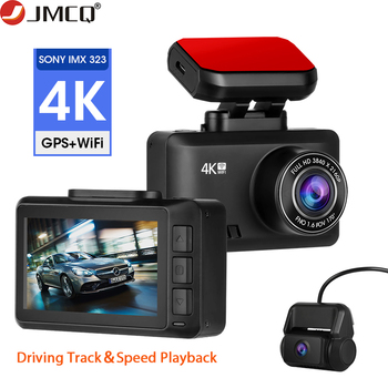 4K Dash Cam Car Camera Dashcam 3840*2160P 30FPS Ultra HD DVR Video Recorder Gesture Photo Dashcam WiFi APP GPS Tracker image