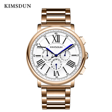 цена 2019  New Top Luxury Relogio Masculino Business multi-function three-eye mechanical watch new fashion men watch steel belt онлайн в 2017 году