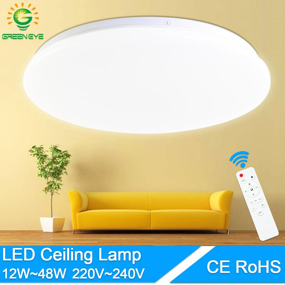 Ultra Thin Ceiling Lamp 48W 36W 24W Led Ceiling Lighting Fixture Modern Lamp Living Room Bedroom Surface Mount Remote Control