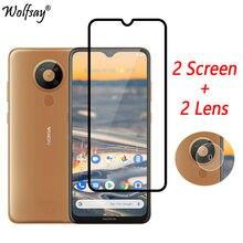 2PCS Full Glued Screen Protector For Nokia 5.3 Tempered Glass for Nokia 7.2 6.2 Full Cover for Nokia 5.3 Glass 9H Premium Film