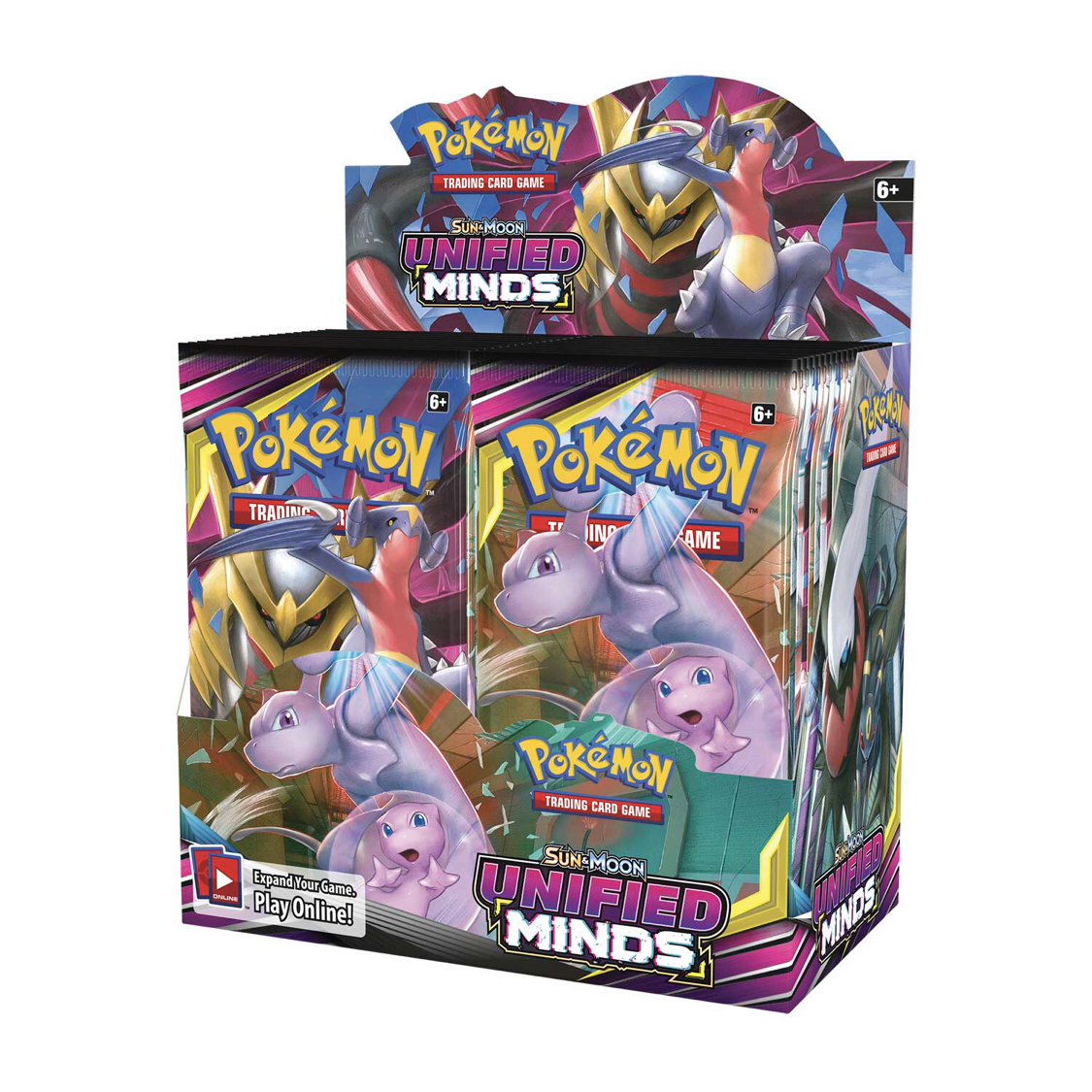 324pcs Pokemones Card TCG:  Unified Minds Trading Card Game A Box Of 36 Bags Collection English Language