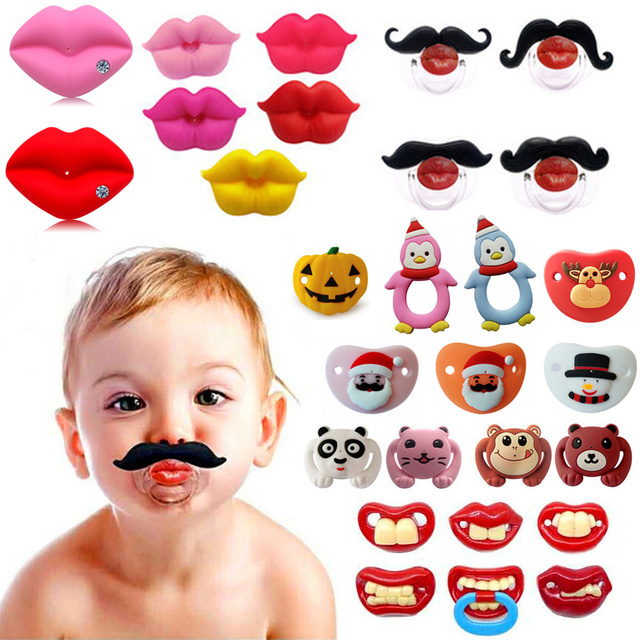 1pcs Pumpkin Pacifier Silicone Funny Nipple Dummy Baby Soother Joke Prank Toddler Orthodontic Nipples Teether Baby