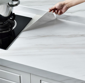 Marble Vinyl Film Self Adhesive Wallpaper Thick Waterproof Cabinet Table Marble Pattern Kitchen Oil-proof PVC Wallpaper thick waterproof pvc imitation marble pattern moisture proof stickers wallpaper kitchen bathroom self adhesive wall stickers