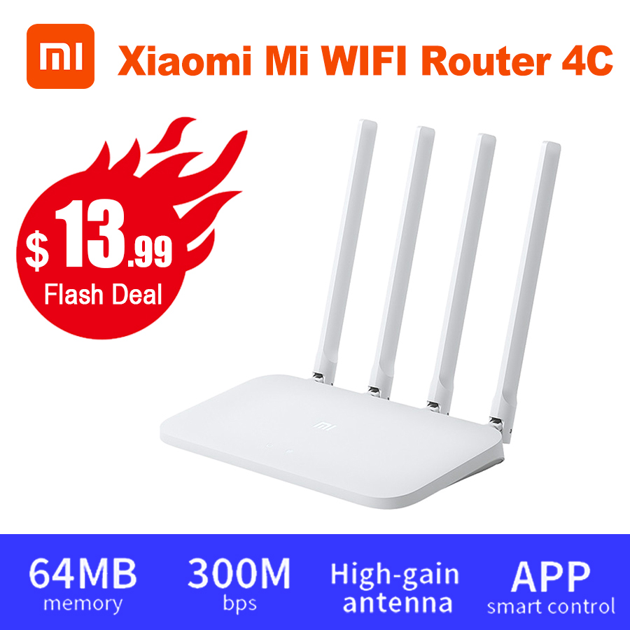 Xiaomi Router 4C Antennas-Band Wifi Repeater Mi Wifi Wireless 300mbps 64 1 App-Control title=