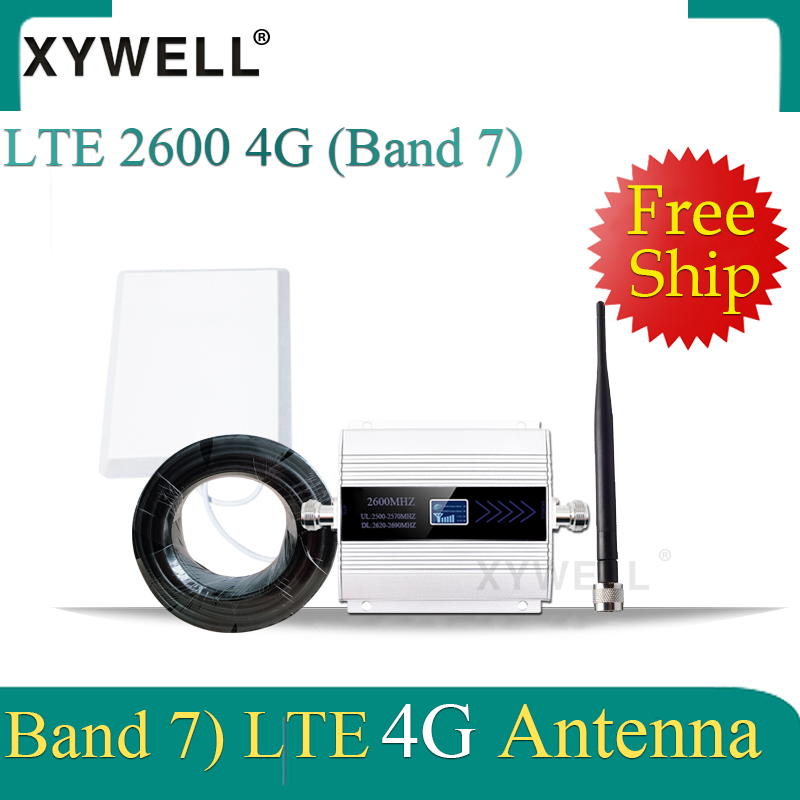 XYWELL 4G Signal Booster FDD LTE 2600mhz Band 7 Cell Phone GSM Signal Repeater 4G LTE 2600 Network Cellular Signal Amplifier