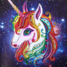 Children and adults DIY diamond painting 5D Unicorn handicraft, living room bedroom home decoration painting 30cmx30cm