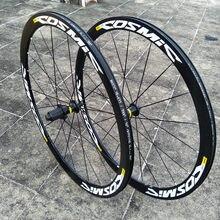 원래 뜨거운 판매 700C 40mm 바퀴 알루미늄 합금 V 브레이크 디스크 브레이크 7/11 속도 우주 엘리트 자전거 바퀴 BMX 도로 자전거 wheelset
