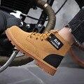 Mut-Mat/Детские Ботинки Martin теплые кожаные ботинки для мальчиков и девочек модные ботинки в британском стиле Нескользящие рабочие ботинки