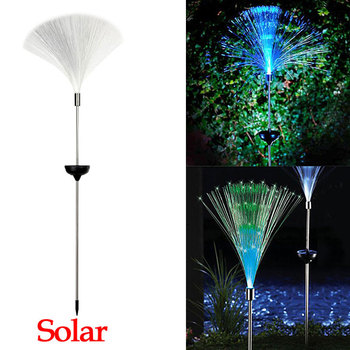 Solar Optical Fiber Light POWER LED Decorative Lamp Lawn Changing Color Ground Lights Christmas Garden Courtyard Lights Hotsale new solar lights butterfly lawn lights colorful color lawn lights led outdoor garden placement decorative lights