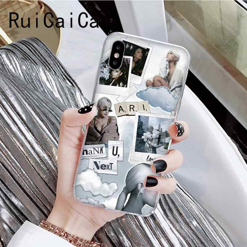 RuiCaiCa Ariana Grande Coque Shell สำหรับ iPhone 8 7 6 6S Plus X XS MAX 5S SE XR 11 11pro 11promax