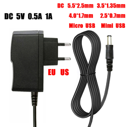 AC / DC Adapter DC 5V 0.5A 1A 2A 2.5A 3A AC 100-240V Converter power Adapter 5 V Volt 1000MA Power Supply Charger Mini  USB