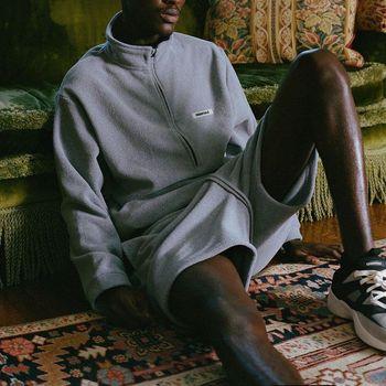 2020ss 1:1 Quality FOG Essentials Half Zip Pullovers Sweatshirts Men Women Winter Polar Fleece Warm FG Hoodie Tracksuit