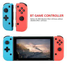 VKTECH Bluetooth Gaming for Joycon Wireless Gamepad Controller Left Right for Nintend Switch Gamepad Joystick Button Cap