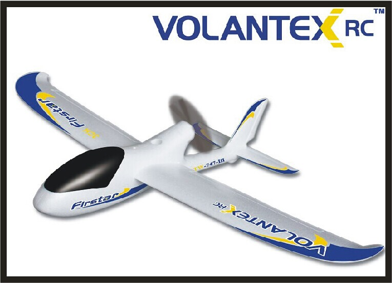 Oeb RC avion passe-temps jouet planeur avion 4 canaux avion MINI taille parfaite parc flyer envergure 758mm V767-1 Firstar (ensemble pnp)