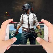 2 pçs pubg moible controlador gamepad livre fogo l1 r1 gatilho pugb móvel teclados grip l1r1 joystick para iphone android telefone