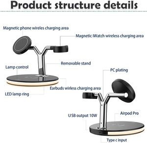 Image 5 - 25W 3 in 1 Magnet Qi Fast Wireless Charger For Iphone 12 Mini Pro MAX Charging Station For Apple Watch 6 5 4 3 2 1 AirPods Pro