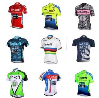 2019 estilos de manga corta Tinkoff jersey de ciclismo ropa ciclismo saxo...