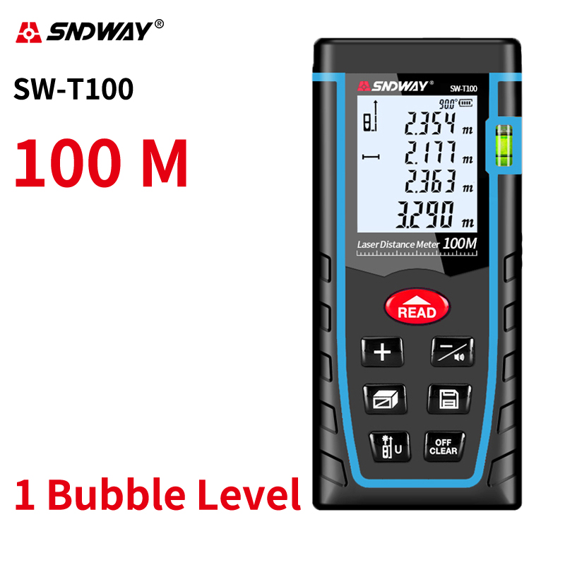 Sndway Laser-entfernungsmesser Durable Laser Abstand Meter Lazer Maßband 40m 60m 80m 100m Elektronische Roulette laser Range finder