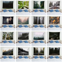 Forest Tapestry Nature Wall Tapestry For Living Room Decoration Psychedelic Wall Hanging Large Size Beach Mat Home Decoration