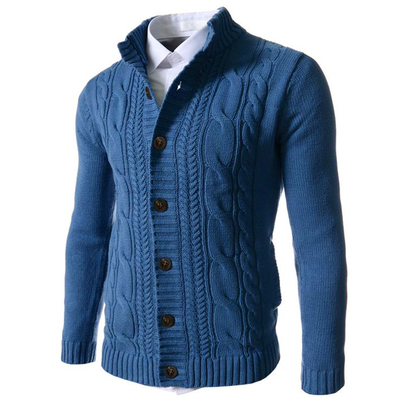 Men's Sweater 2019 New Autumn And Winter Warm Thick Velvet Jacket Jacket Cardigan Jacket Men's Clothing Casual Knitting