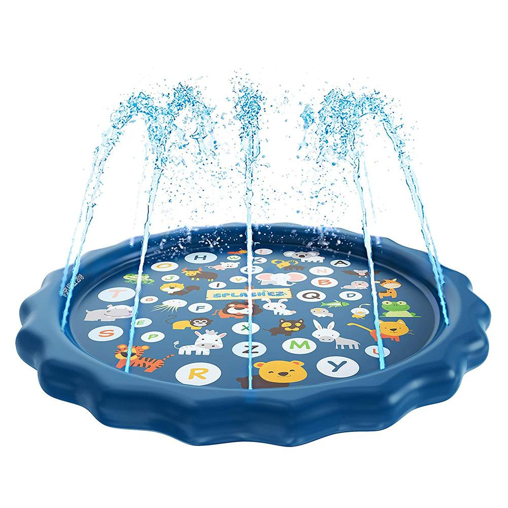 170cm Children Kids PVC Garden Play Cool Water Spray Mat Outdoor Lawn Games Beach Pad Cushion