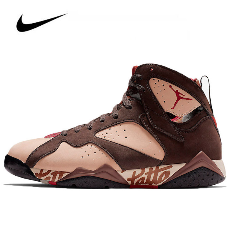 High Top Women Nike Air Jordan 7 Patta OG SP Men's Jordan Shoes Basketball Shoes Comfortable Gym Training Boots  AT3375-200