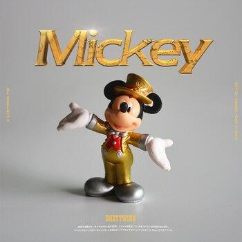 12PCS 6cm Hohe qualität kleine größe Disney Festival Kleid Mickey maus ornament modell sammlung ornament DIY dekoration