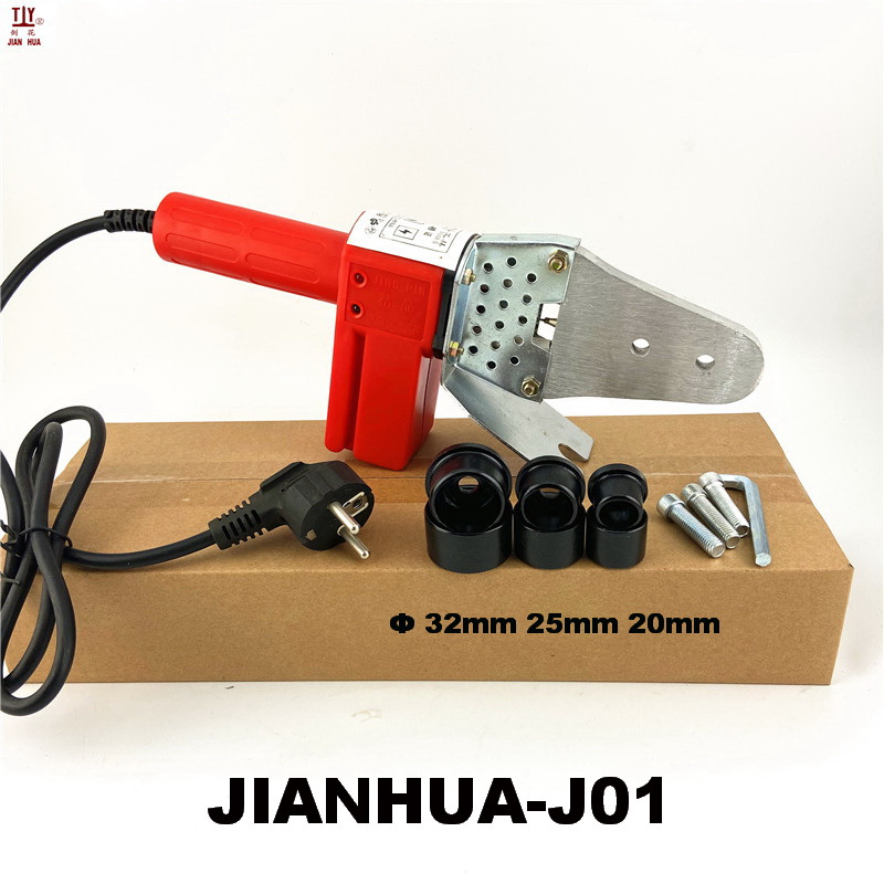 Free Shipping Soldering For Pipes Welding Machine PPR 20-32mm Plastic Welder Kit AC 220V 600W PVC PP PE Termofusor