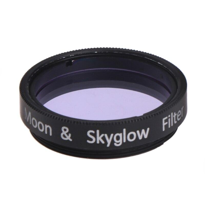 Filtro de Luna y brillo de cielo de 1,25 pulgadas para telescopio astromico Ocular de vidrio Ocular