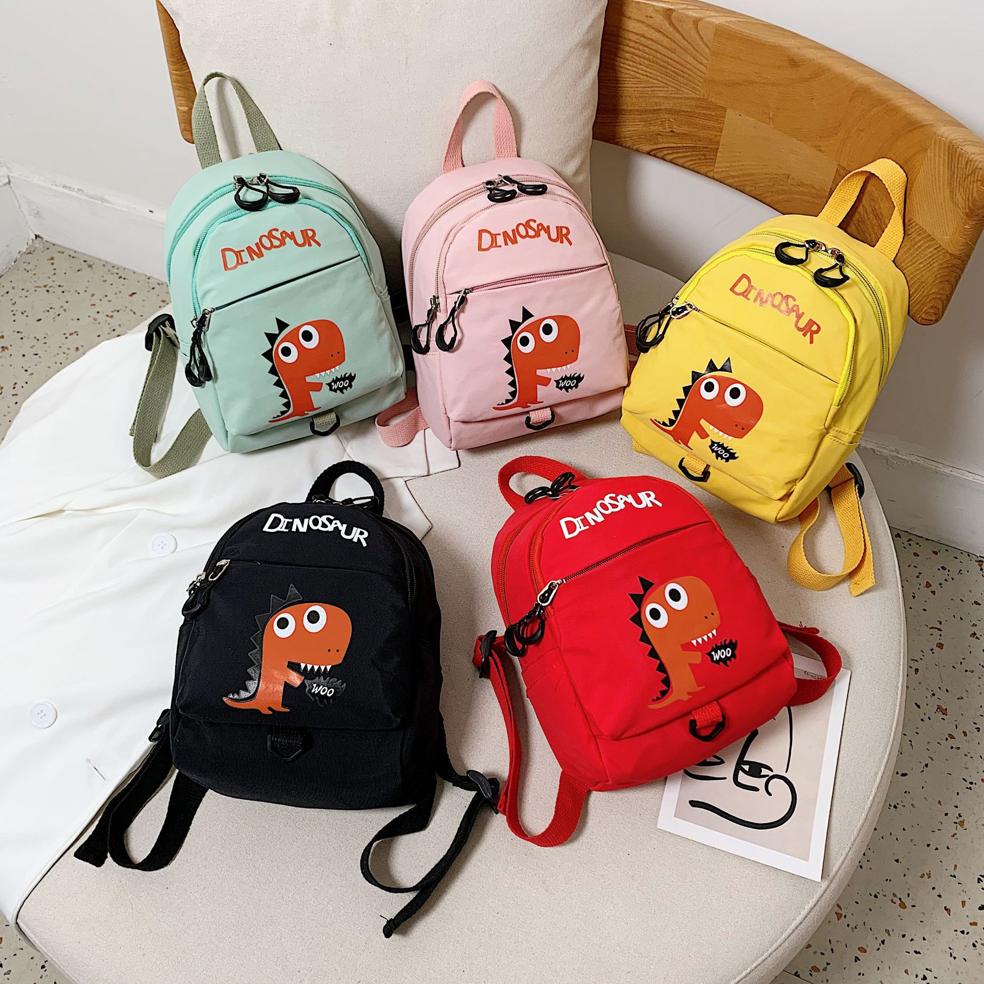 New Style Dinosaur CHILDREN'S School Bags Baby Nursery Backpack Anti Lost Children Bag