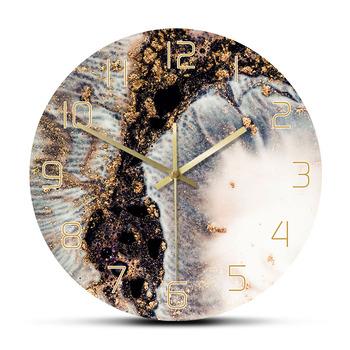 Marmurowy brokat magiczna moda bogata tekstura drukuj zegar ścienny koralowe kolory z złoty proszek minimalistyczny Nordic luksusowy zegar ścienny tanie i dobre opinie circular The Geeky Days Z tworzywa sztucznego w starodawnym stylu ZAGARY ŚCIENNE 300mm SALON 30cm Other Jedna twarz CZ-0207