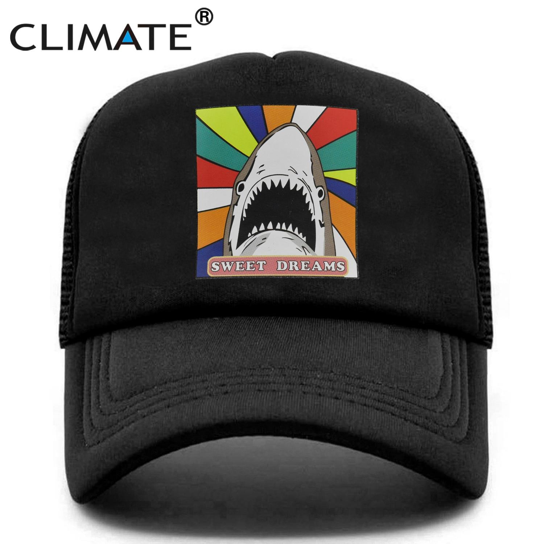 Mens Womens Mesh Trucker Cap S is for Shark Snapback Flat Hats