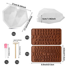 Silicone Mold Set Cake Chocolate Heart Shape Mold Baking Mold Cake Tool Baking Kitchen Cooking Supplies 7 Pieces