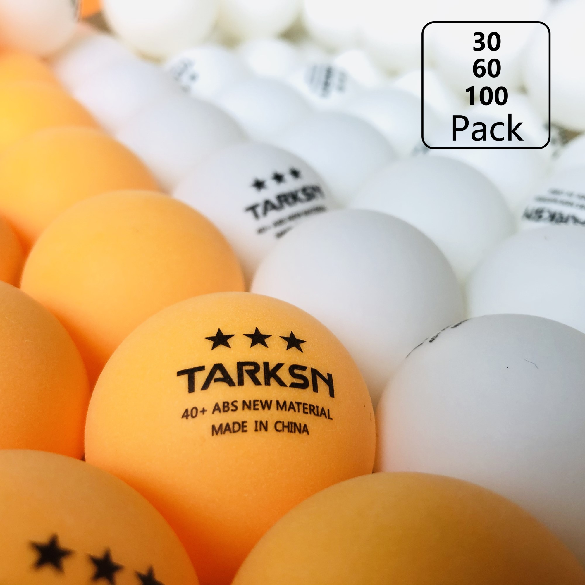 New Material Ping Pong Balls 3 Star 40+ Table Tennis Ball 30 60 100pcs for Professional Training 1