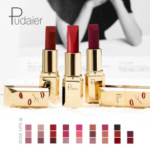 Pudaier Matte Velvet Lipsticks Permanent Waterproof Long Las