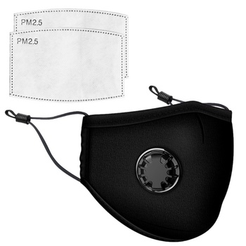 PPE Face Mask with Breathing valve Anti-dust PM 2.5 Dustproof Fashion Mask +2 PM2.5 Filters Free ship Fast Shipping