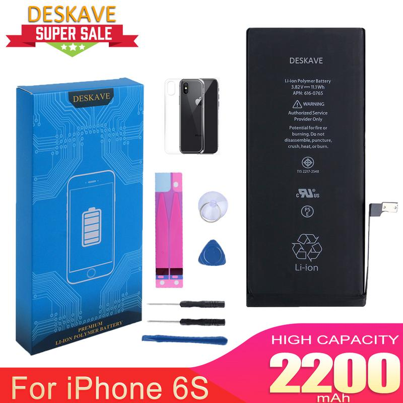Phone <font><b>Battery</b></font> for <font><b>iphone</b></font> <font><b>6S</b></font> <font><b>Batteries</b></font> 2200mAh Replacement <font><b>Battery</b></font> AAA Quality Free Tool Kit Original Capacity A1633 A1688 image