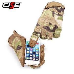 Image 2 - Touch Screen รถจักรยานยนต์ Full Finger ถุงมือ Motocross Camouflage Breathable ป้องกันเกียร์รถจักรยานยนต์ Racing Hard Knuckle ขับรถ