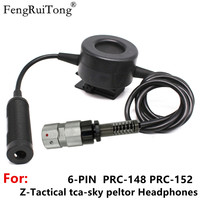 FengRuiTong PTT Für Z tactical headset HD01 HD03  zu PRC 148 152A PRC 152 Walkie talkie taktische u94 Große kreis PTT 6pin|Funkgerätteile und -Zubehör|   -