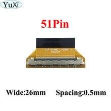 Yuxi 1 шт кабель lvds с замком на 51 штырь ffc fpc Гибкий плоский
