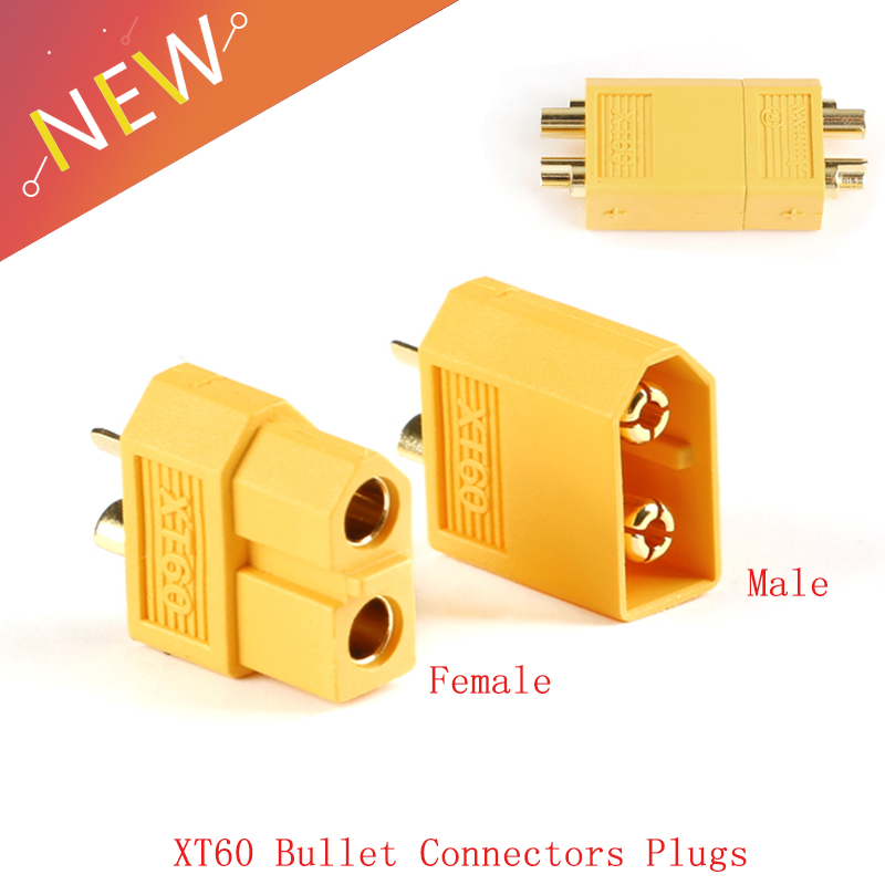 2Pcs 30A XT60 Male Female Bullet Connectors Plug 500V  For RC Lipo Battery High Quality