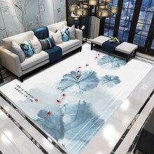 Ретро ковер в китайском стиле классический дом гостиная коврики для ванной комнаты 3D Прямоугольный Коврик прикроватная тумбочка для спальни одеяло Йога теппич коврик