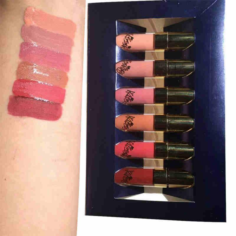 BEAUTY GLAZED 6pcs/Set Liquid Lipstick Lip Gloss Professional Makeup Matte Lipstick Lip Kit Long Lasting Cosmetics Maquiagem 3
